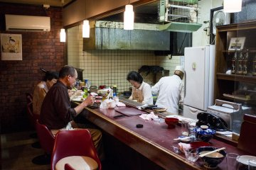 <p>Inside the humble restaurant of Ishikawa</p>