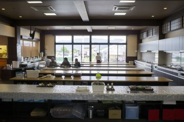 <p>The soba-making&nbsp;space of the Echizen Soba&nbsp;Village</p>