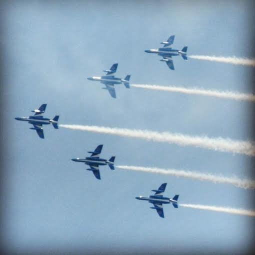 <p>At the point where they adeptly flew back into formation, you could only admire their skill and style</p>
