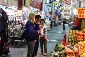 Meet the gourmet miso and farm produce makers at the optional Nishiki Market Tour once a week