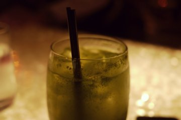 <p>A mojito with&nbsp;mint leaves infused at Legato&#39;s Bar Shibuya</p>
