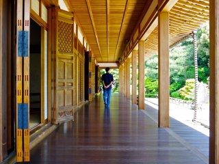 Beautiful wooden corridors
