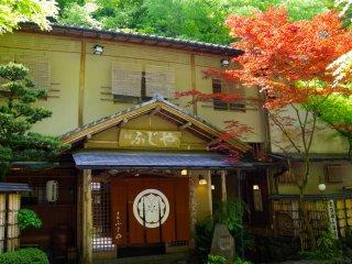 Japanese restaurants alongside the river