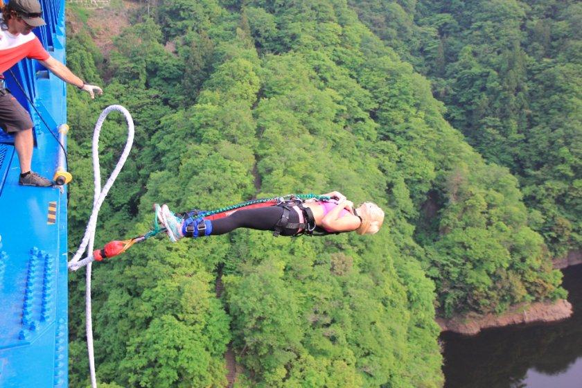 Falling backwards into thin air