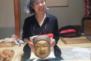 Teacher with Buddha Mask,one that most people have not seen