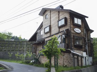 A kitschy-looking inn at Zao Onsen Town
