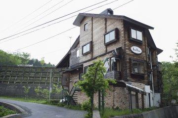 <p>A kitschy-looking inn at Zao Onsen Town</p>