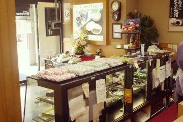 <p>Delicious pastries displayed on the counter.</p>