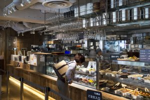 The Muji cafe on the 2nd level