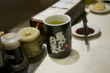 <p>Have some tea while waiting for your sushi!&nbsp;</p>