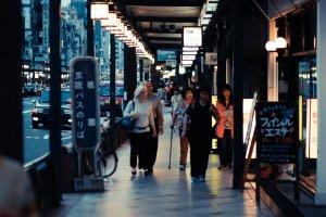 Take a stroll on Shijo-dori—great for shopping!