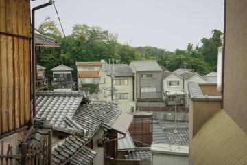 <p>A view on the Kyoto rooftops on the way to the temple.&nbsp;</p>