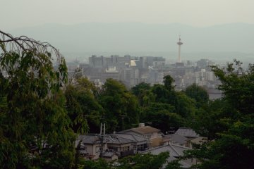 <p>Kyoto Tower visible from the hills.</p>