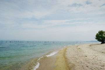 <p>The view from the beach.</p>