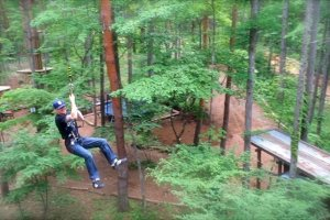 Swing like Tarzan! This was by far the most exhilarating obstacle on the Adventure Course.