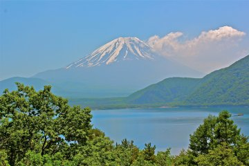<p>I can stand here all day to gaze at beautiful Mt Fuji.</p>