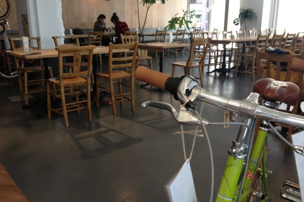 Green bike to compliment a green salad?