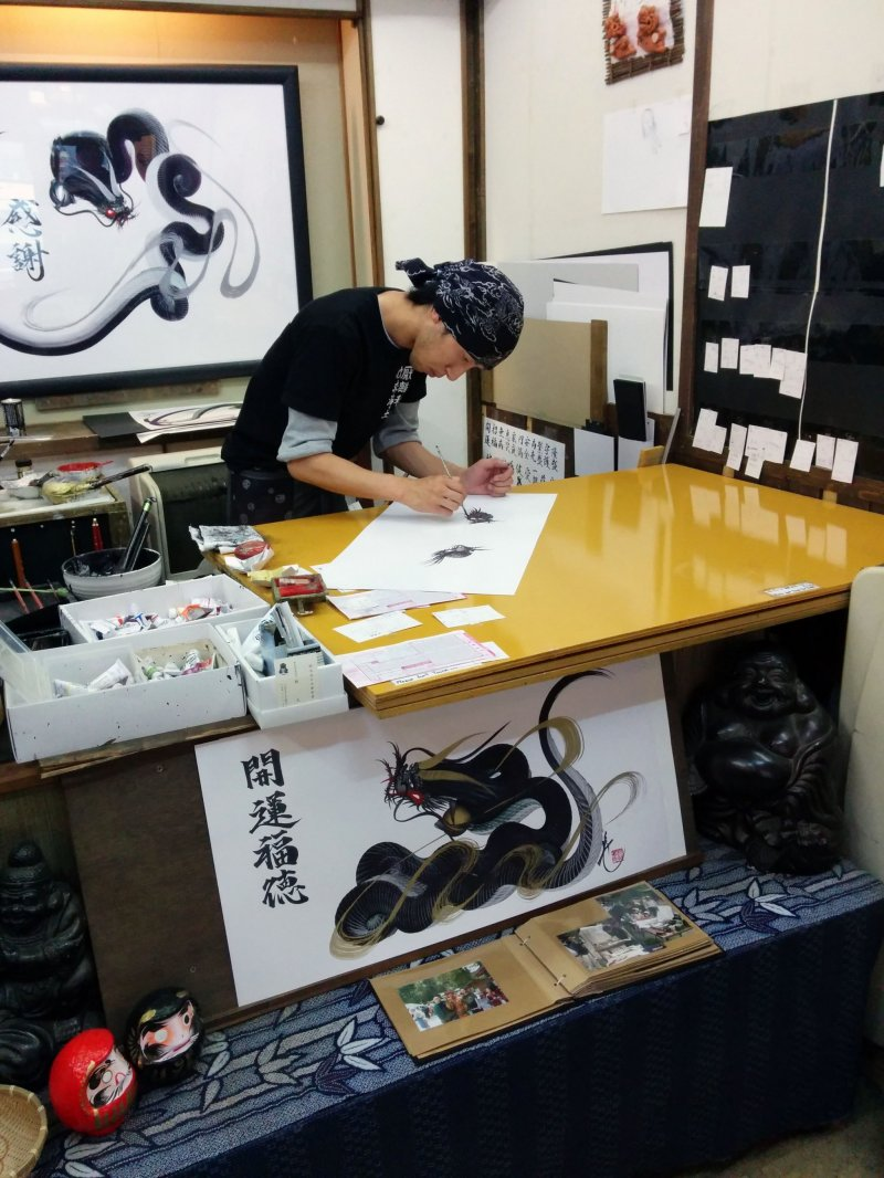 <p>The master at work</p>