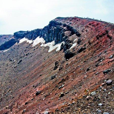 Climbing Mt. Asama