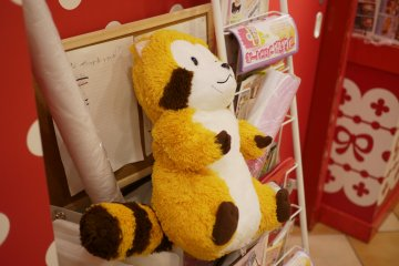 <p>He is the mascot of the shop!</p>