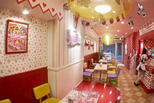 The interior looks like a real-life dollhouse!