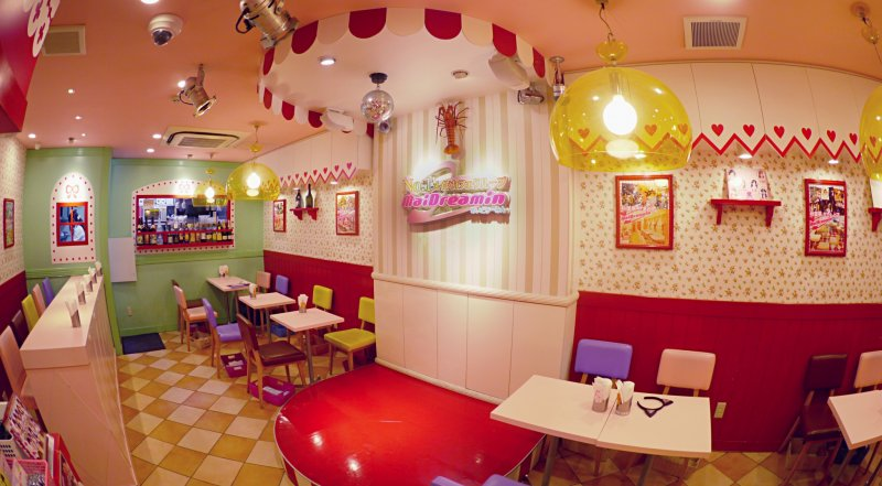 <p>You can take a picture with the maids in this corner&nbsp;at Maidreamin Cafe in Denden town near Nanba Osaka.</p>