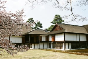 View of the Shoin, the main building of Katsura Imperial Villa