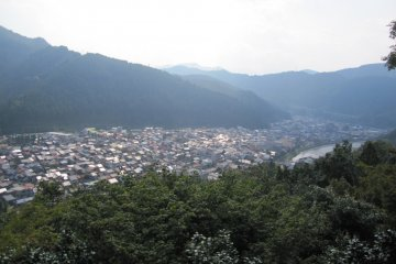 Gujo City from the Castle