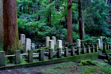 <p>...and you&#39;ll see several tomb stones from afar</p>