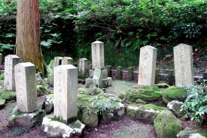 I'm not sure whose tombs they are (they are near the poet's grave), but I kind of envy them for having such serene place to themselves in the woods to rest in peace