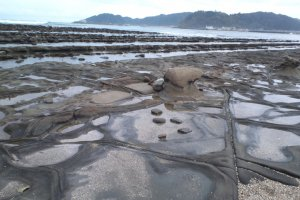 Aoshima rock formations (devil's washboard)