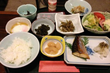 <p>Japanese breakfast at its best</p>