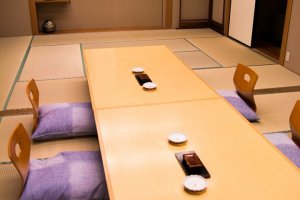 Traditional seating for the Japanese restaurant