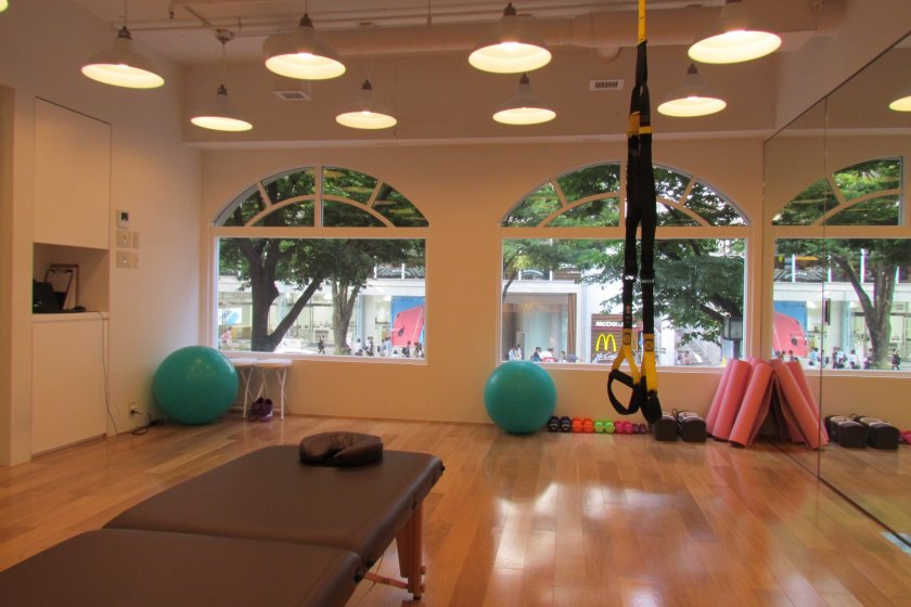 Nohara by Mizuno's fitness studio is bright and airy