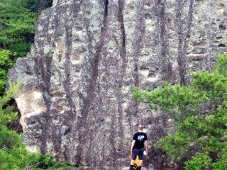 15 meters of rock to climb