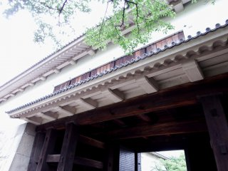 The Otemon Gate, an important cultural property, too