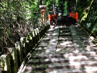 After passing the shrine near the station, there is a nice climb up to KuramaTemple