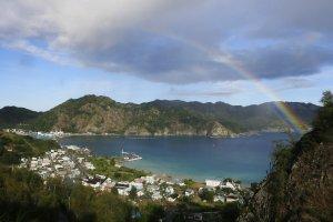 Arco-íris sobre a baía