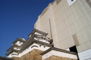 Himeji castle creeping out of its box