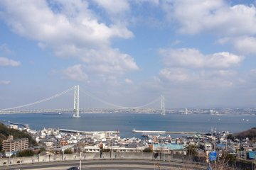 Looking back at the bridge from Awaji