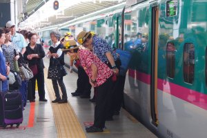 The colourful, super-efficient Shinkansen cleaning staff