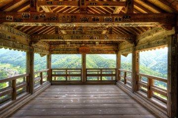<p>Godaido Hall observation deck</p>