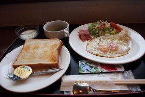 The hotel's Western breakfast