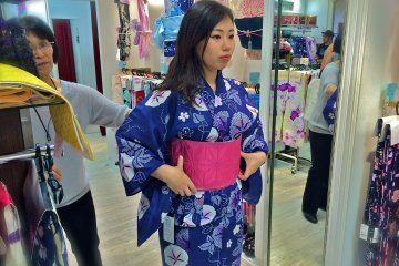 <p>Sometimes selecting the&nbsp;Yukata is the easy part. Deciding on an Obi to coordinate is probably the most difficult.</p>
