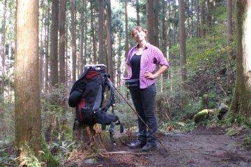 Felicitas on the Nakahechi trail