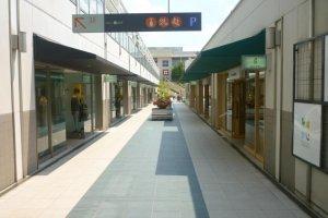 Rows of shops and restaurants at Hoshigaoka Terrace