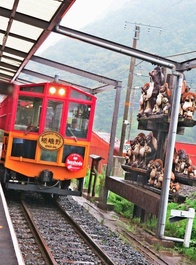 <p>嵯峨嵐山矿车造型小火车</p>