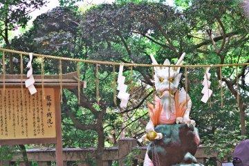 <p>江岛神社内的龙王</p>