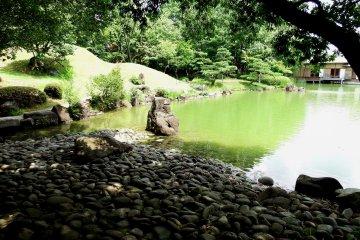 夏に歩く養浩館庭園