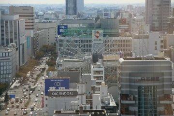 The huge Ferris Wheel in the center of Nagoya